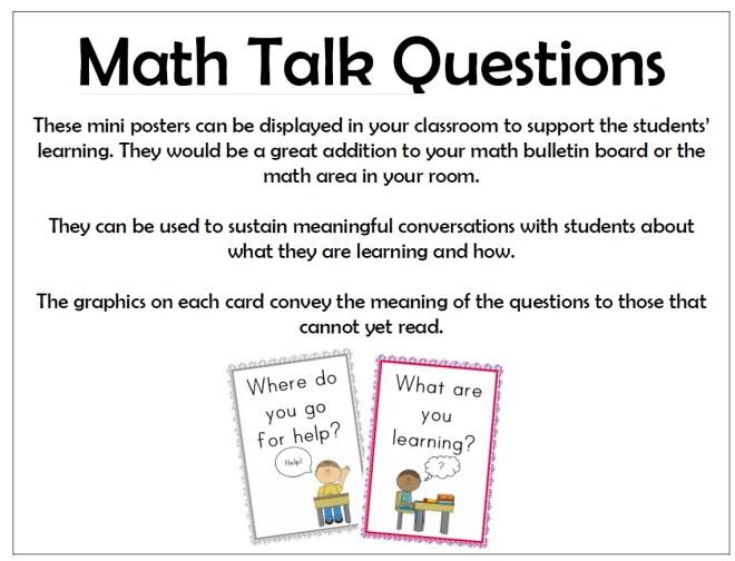 math talk questions preview