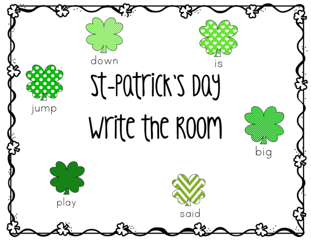 st=patrick's day write the room cover page