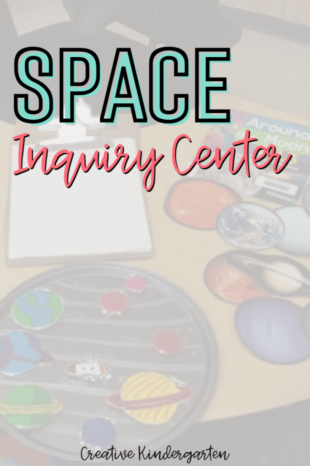 Set up a Space Inquiry Center for your students to explore the galaxy and solar system. They will love exploring the planets and stars!