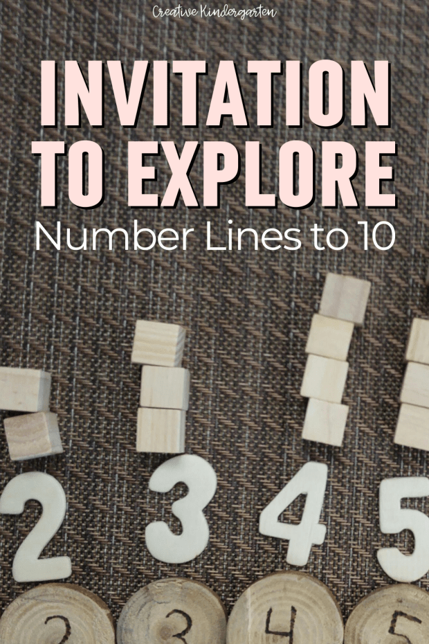 Use loose parts to create an invitation to explore number lines to 10. Students will be able to explore numbers and the concept of movement is magnitude.
