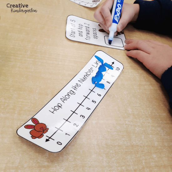 Number line for addition and subtraction: This fun and hands-on math center will teach students how to use a number line when adding or subtracting. Easy to use and engaging, these task cards are perfect for kindergarten.