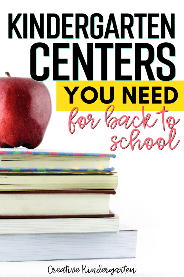 This list of kindergarten centers are perfect for back to school time. Get ideas and activities to do at the beginning of the school year to work on math and literacy skills.