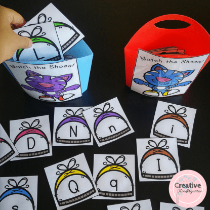 Uppercase and lowercase letter matching activity for kindergarten. Reinforce letter recognition skills with this simple and fun literacy center.