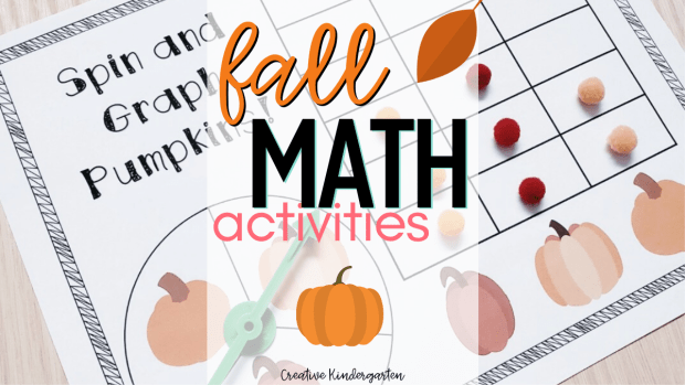 Fall Math Activities for kindergarten hands-on learning. Reinforce number sense, graphing skills and more with these easy prep centers.