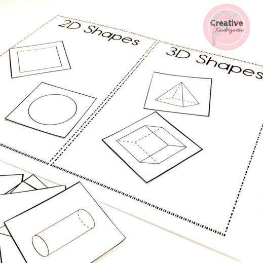 3D Shapes Kindergarten Math Centers | Creative Kindergarten
