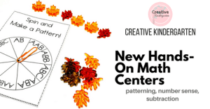New hands-on math centers-Facebook
