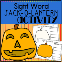 Sight Word Jack-O-Lantern square preview