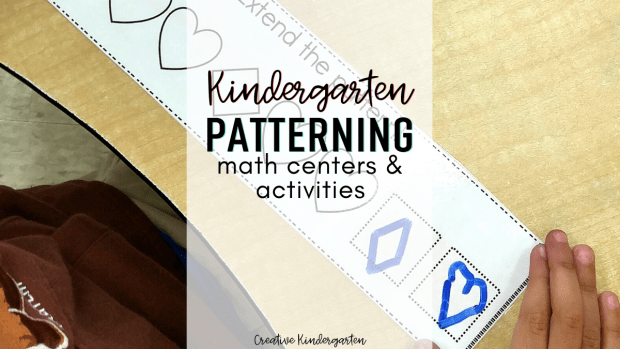 patterning math centers: find hands-on and engaging math activities for your kindergarten students. Reinforce patterning with these easy to prep centers.
