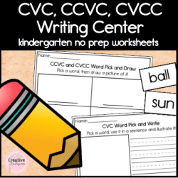 CVC CCVC CVCC writing center square preview