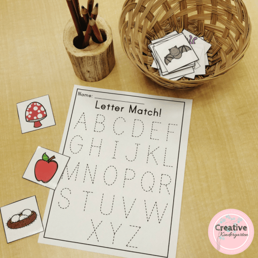 letter match phonics activities for kindergarten