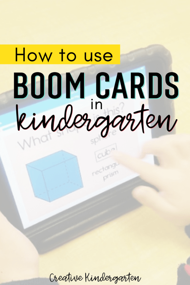 How to use Boom Cards in kindergarten. Find out how easy it is to use these paperless, self-correcting task cards that will help reinforce essential skills in your classroom.