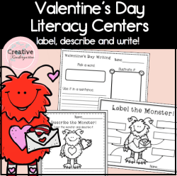 Valentine Monster Literacy square preview
