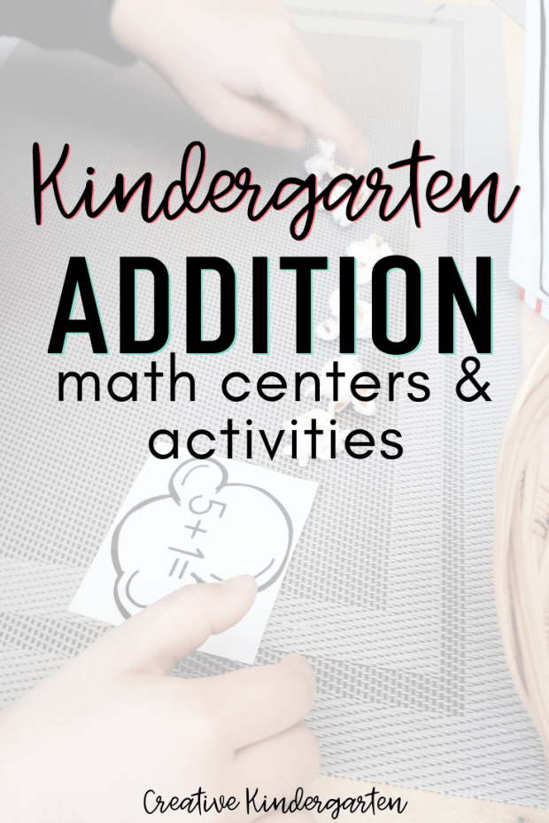 kindergarten addition math centers and activities. Reinforce adding strategies with your students.