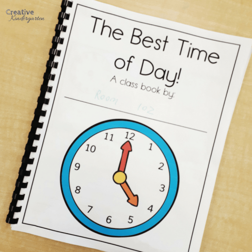 class books are a great way to work on student's writing skills. Perfect for writing center activity for the whole school year. Time class book to work on telling time.