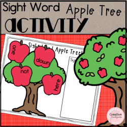 Sight Word Apple Tree- Square Preview