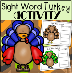 sight word turkey square preview