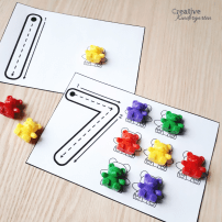 One-to-one correspondence intervention activities for kindergarten. Reinforce number recognition, counting skills and number formation with these simple, fun, hands-on math centers. Perfect for morning work, guided groups, math centers or morning tubs.