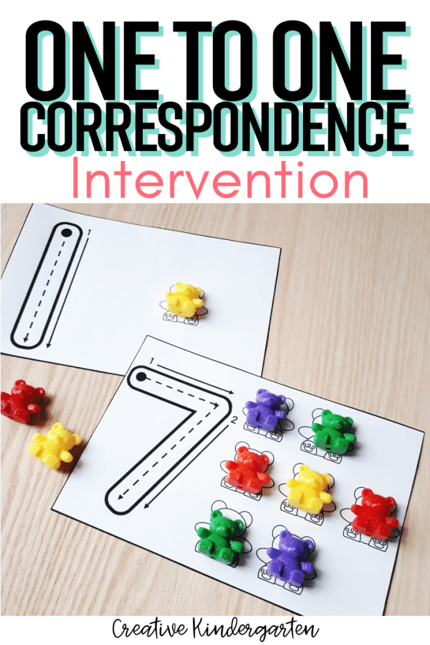 Use hands-on and engaging activities with math manipulatives to reinforce one-to-one correspondence skills. Perfect for number recognition, counting skills, number formation.