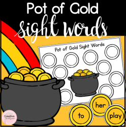 Pot of Gold Sight Words- square preview
