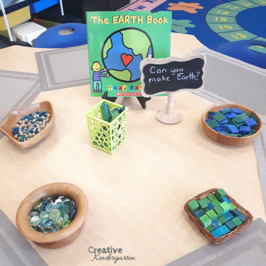 Engage students with their Earth Day learning with this hands-on loose parts center for kindergarten.