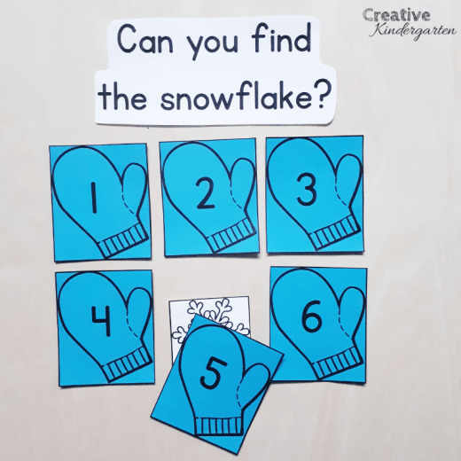 Playing games with your students is a great way to get students excited to learn about numbers. This number recognition math game is great for large groups or during center time. #numbersense #mathgame #creativekindergarten