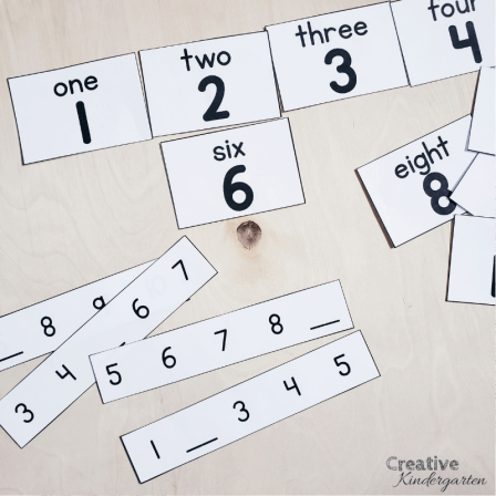 A review of Counting Principles for kindergarten number sense. Free stable order activities for your students to use to practice their number sense skills. FREEBIE included! #stableorder #numbersense #creativekindergarten