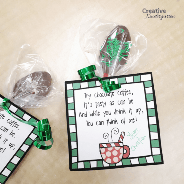 We made these fun chocolate spoons as Christmas gifts for families. I brought a crock pot to school and students dipped and sprinkled their own spoon. So cute and a fun experience for our students.