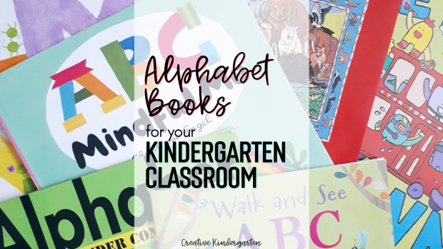 Kindergarten books to read: A list of alphabet books for the beginning of the school year to add to your classroom library. Great books to reinforce phonics and letter recognition.