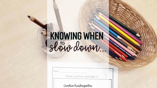 Kindergarten writing: How I teach my students to write when my usual way of teaching is not working. Slowing down and re-evaluating my students' needs to meet them where they are.