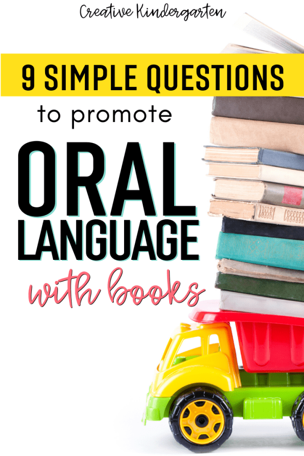 I share 9 simple questions that will promote oral language development in kindergarten. Use these questions with any book during a read-aloud.