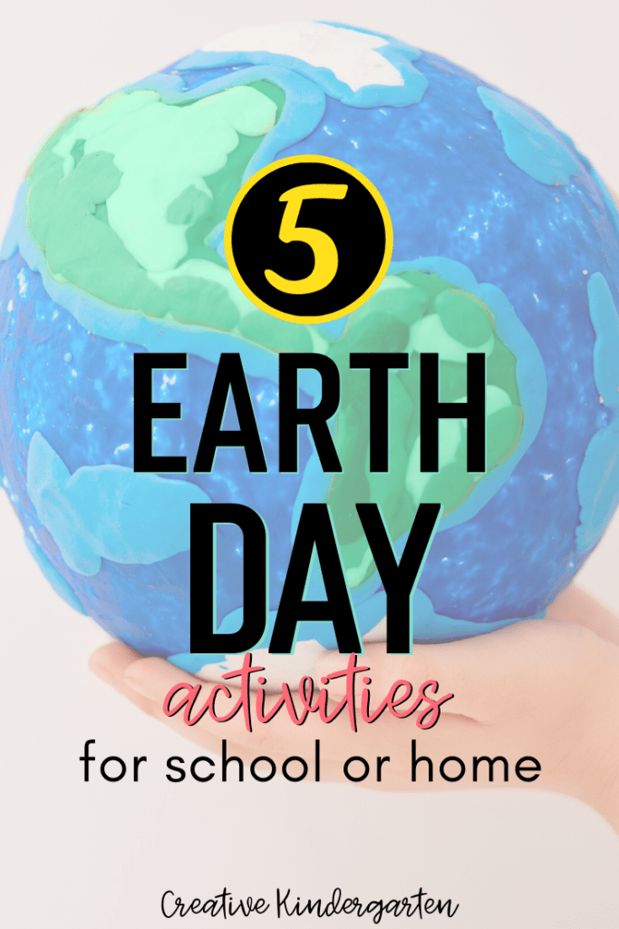 5 earth day activities that you can use at home or at school. These easy to do challenges cover math, literacy, STEM and art.