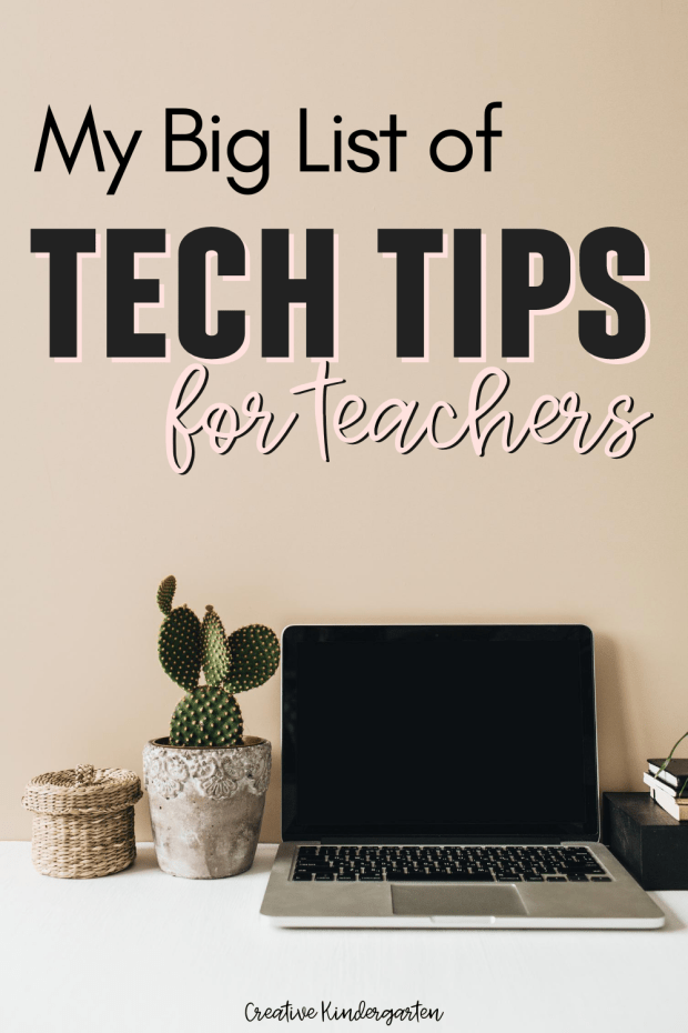 This list of tech tips for teachers is perfect for learning new skills, making your teaching life less stressful and keeping you organized.