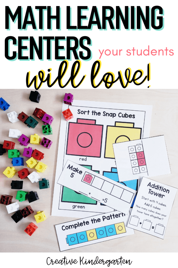 These fun and engaging math learning centers will reinforce fine motor and math skills all year long. These 18 hands-on activities are easy to prep and use.