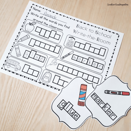 Write the Room Activities are an engaging way to reinforce a variety of skills. Use them in your kindergarten classroom to get students excited to learn!