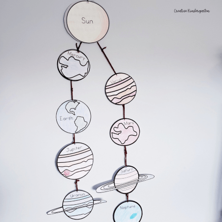 Create solar systems with these fun space writing prompts. Students write facts about each planet and the sun. Put them together to create a solar system.