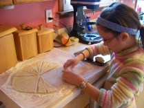 Rolled up the dough.