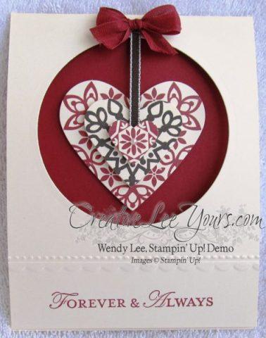 hanging pendant heart card