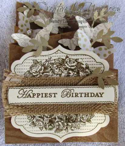 cascading birthday card