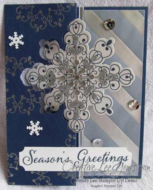 Letterpress Winter Snowflake Flip by Wendy Lee