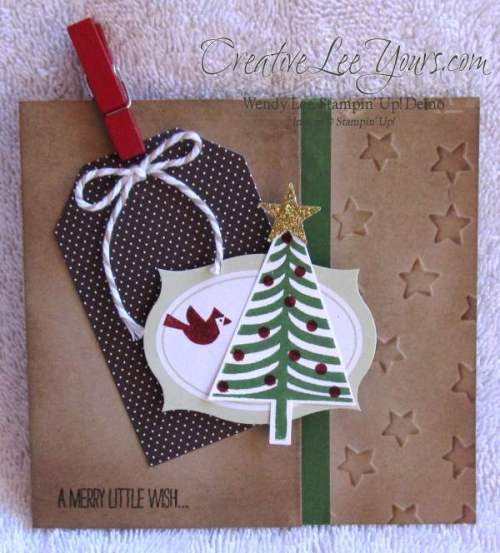 side pocket gift card holder by wendy lee,creativeleeyours, Nov 2014 FMN class, christmas, tag a bag, Stampin' Up!