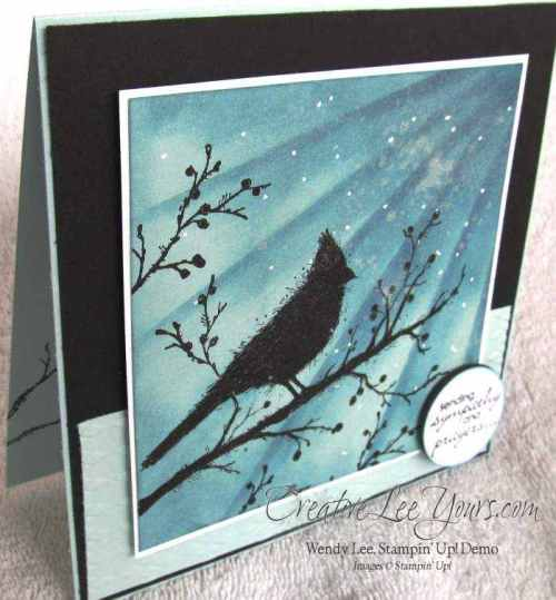 Beauty of the Season Silhouette Card by Wendy Lee, #creativeleeyours, Stampin Up, Sympathy card