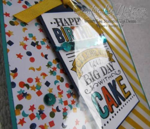 Big Day Tag card by Zoe Williams, #creativeleyours, Stampin' Up!, #SAB2015