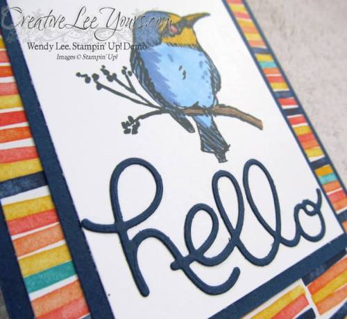 A Happy Thing Hello by Jennifer Moretz, #creativeleeyours, Stampin' Up!, Card