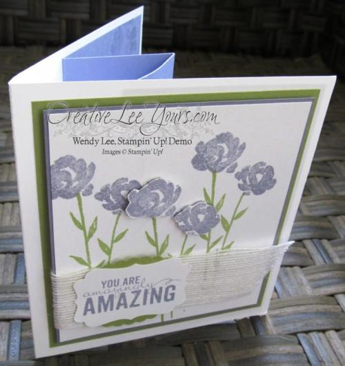 Painted Petals Pop-Up Book Card by Wendy Lee, #creativeleeyours, Stampin' Up!, May 2015 FMN class, Painted Petals Stamp Set