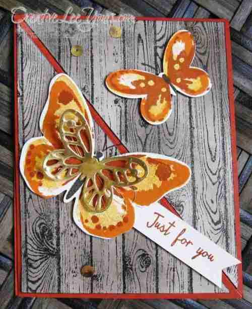 Watercolor wings corner easel by wendy lee, #creativeleeyours, Stampin' Up!, FMN July 2015