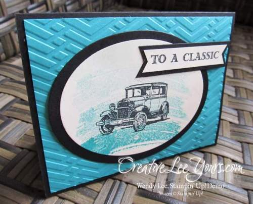 To a classic by Belinda Rodgers, #creativeleeyours, Stampin' Up!, Diemonds team swap, Guy Greetings stamp set, masculine card