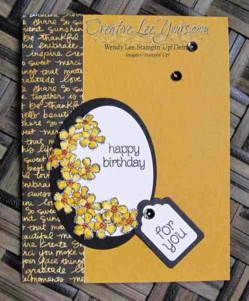 Birthday Blossoms by Sheila Tatum, #creativeleeyours, Stampin' Up!, Diemonds team swap