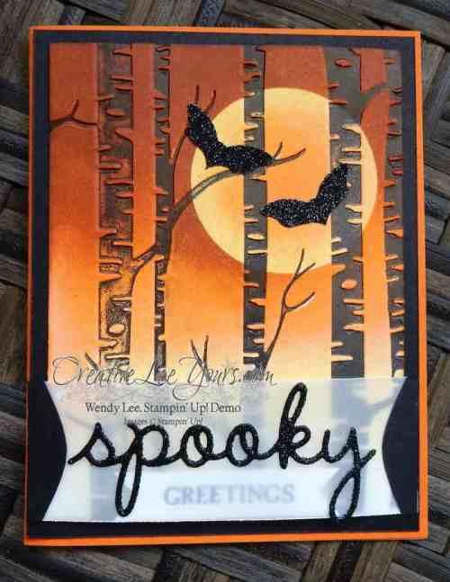 Spooky Trees by Wendy Lee, #creativeleeyours, Stampin' Up!, Halloween