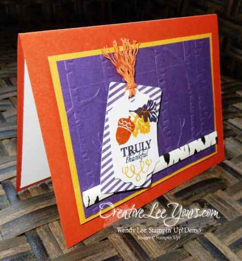 September 2015 Paper Pumpkin Wickedly Sweet Kit by Wendy Lee, Creativeleeyours, Stampin' Up!, Fall Cards