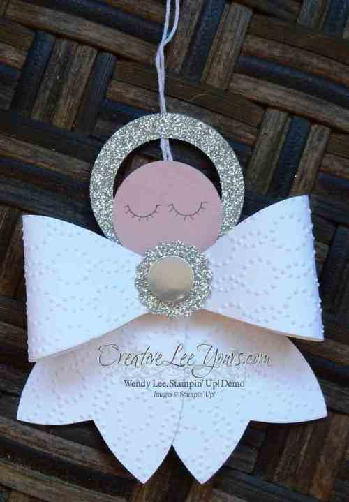 Bow Angels by Wendy Lee, #creativeleeyours, Stampin' Up!, Christmas, home decor, gift bows die